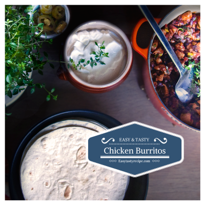 Chicken Bean Burritos – Chicken Marinated in Pineapple Juice
