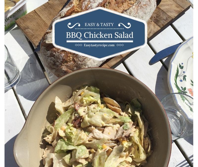 Creamy Healthy BBQ Chicken Salad under 15 minutes
