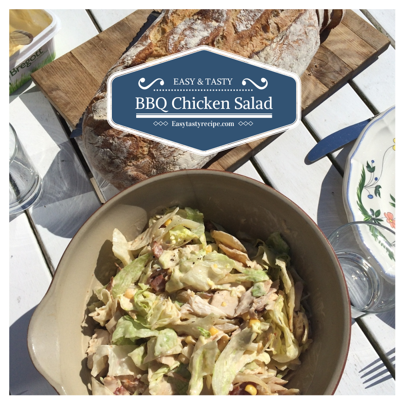 Creamy Healthy BBQ Chicken Salad