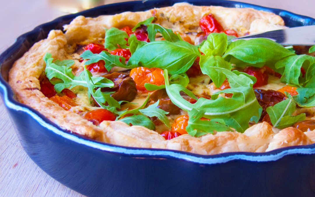 Heavenly tomato pie tonight!