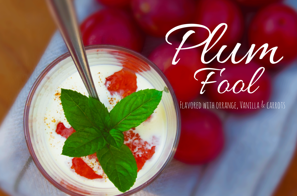 Lovely Plum Fool Flavored with Orange, Vanilla and Carrots