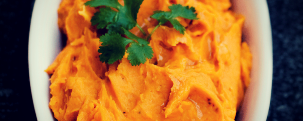 Mashed Sweet Potato with Ginger and Orange